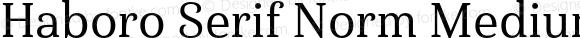 Haboro Serif Norm Medium Norm Medium
