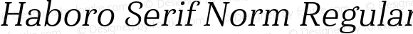 Haboro Serif Norm Regular It Norm Regular It