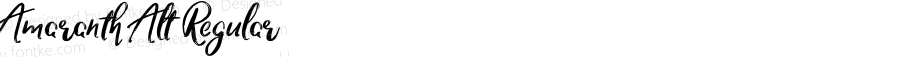 Amaranth Alt Regular Version 1.000;PS 001.000;hotconv 1.0.88;makeotf.lib2.5.64775