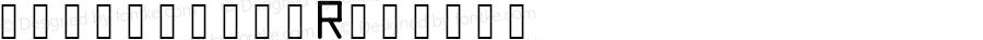 monospace Regular Version 1.0