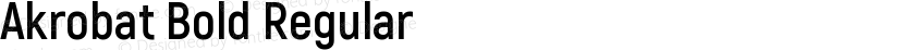 Akrobat Bold Regular Preview Image