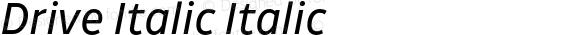 Drive Italic Italic