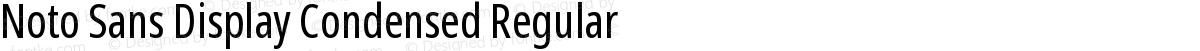Noto Sans Display Condensed Regular