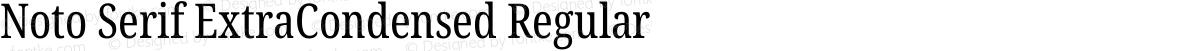 Noto Serif ExtraCondensed Regular