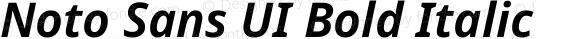 Noto Sans UI Bold Italic Version 1.001