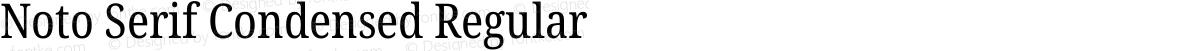 Noto Serif Condensed Regular