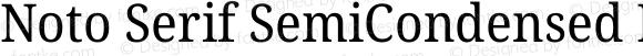 Noto Serif SemiCondensed Regular