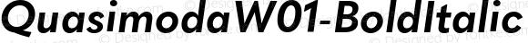 QuasimodaW01-BoldItalic Regular Version 1.00