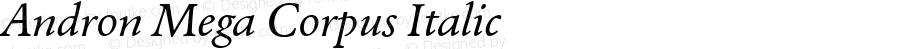 Andron Mega Corpus Italic Version 1.003 October 27, 2016