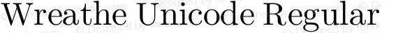 Wreathe Unicode Regular