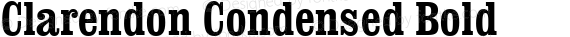 Clarendon Condensed Bold preview image