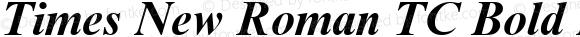 Times New Roman TC Bold Italic Version 1.0 - November 1992