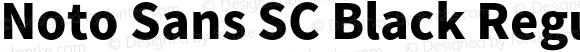 Noto Sans SC Black Regular