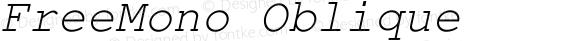 FreeMono Oblique