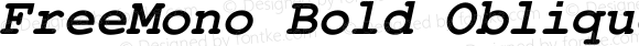 FreeMono Bold Oblique