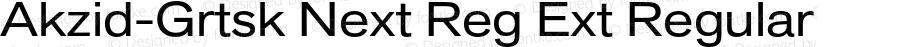 Akzid-Grtsk Next Reg Ext Regular Version 001.001;Core 1.0.01;otf.5.04.2741;13.02W
