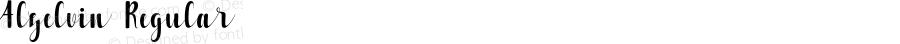 Alzelvin Regular Version 1.000; ttfautohint (v1.3)