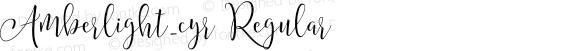 Amberlight_cyr Regular Version 1.00 July 21, 2016, initial release