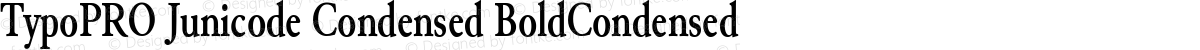 TypoPRO Junicode Condensed BoldCondensed