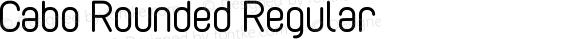 Cabo Rounded Regular Version 1.002;Fontself Maker 1.1.0