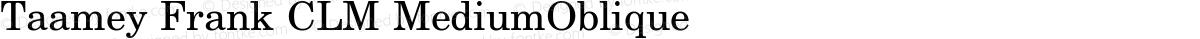 Taamey Frank CLM MediumOblique