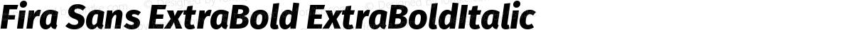 Fira Sans ExtraBold ExtraBoldItalic