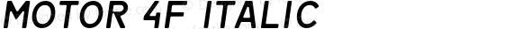 Motor 4F Italic