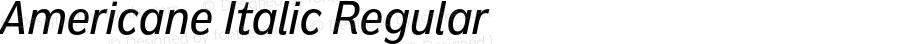 Americane Italic Regular Version 1.000