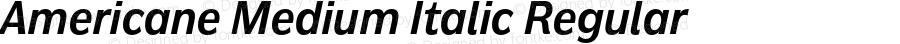 Americane Medium Italic Regular Version 1.000