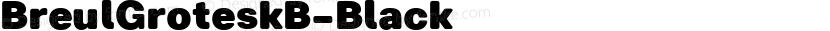 BreulGroteskB-Black ☞ Preview Image