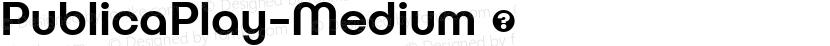 PublicaPlay-Medium ☞ Preview Image