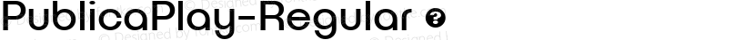 PublicaPlay-Regular ☞ Preview Image