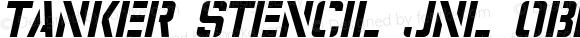 Tanker Stencil JNL Oblique Version 1.000 - 2016 initial release