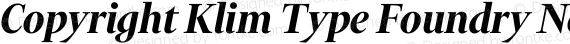 Copyright Klim Type Foundry Not Licensed for Desktop Use preview image