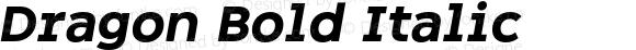 Dragon Bold Italic