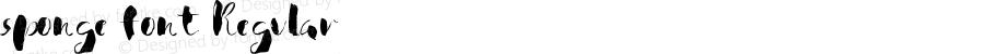 sponge font Regular Version 1.00 November 27, 2016, initial release