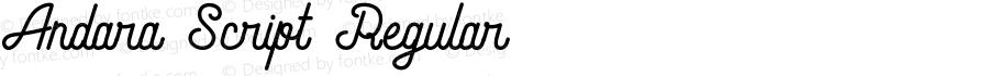 Andara Script Regular Unknown