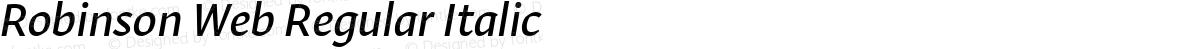 Robinson Web Regular Italic