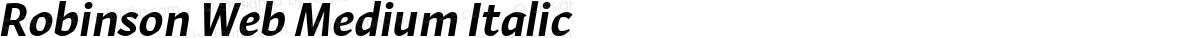 Robinson Web Medium Italic