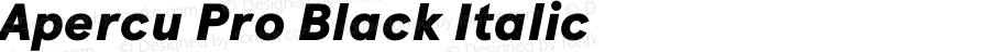 Apercu Pro Black Italic Version 2.002; ttfautohint (v1.5)