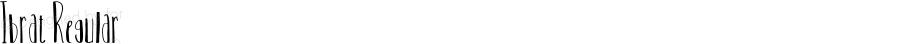 Ibrat Regular Version 1.001;Fontself Maker 1.0.3