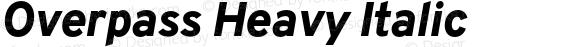 Overpass Heavy Italic