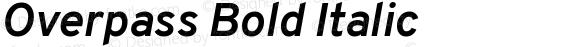 Overpass Bold Italic