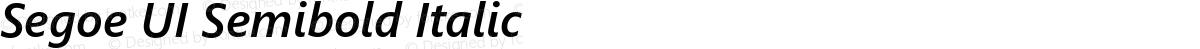 Segoe UI Semibold Italic