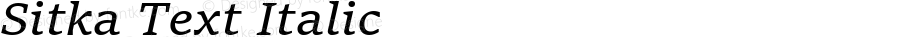 Sitka Text Italic Version 1.10
