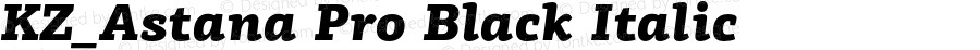 KZ_Astana Pro Black Italic Version 1.000