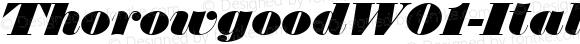 Thorowgood W01 Italic