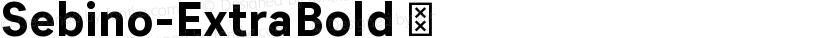 Sebino-ExtraBold ☞ Preview Image