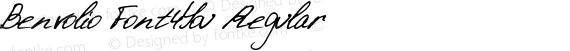 Benvolio Font4You Regular preview image