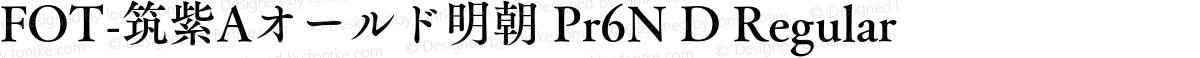 FOT-筑紫Aオールド明朝 Pr6N D Regular